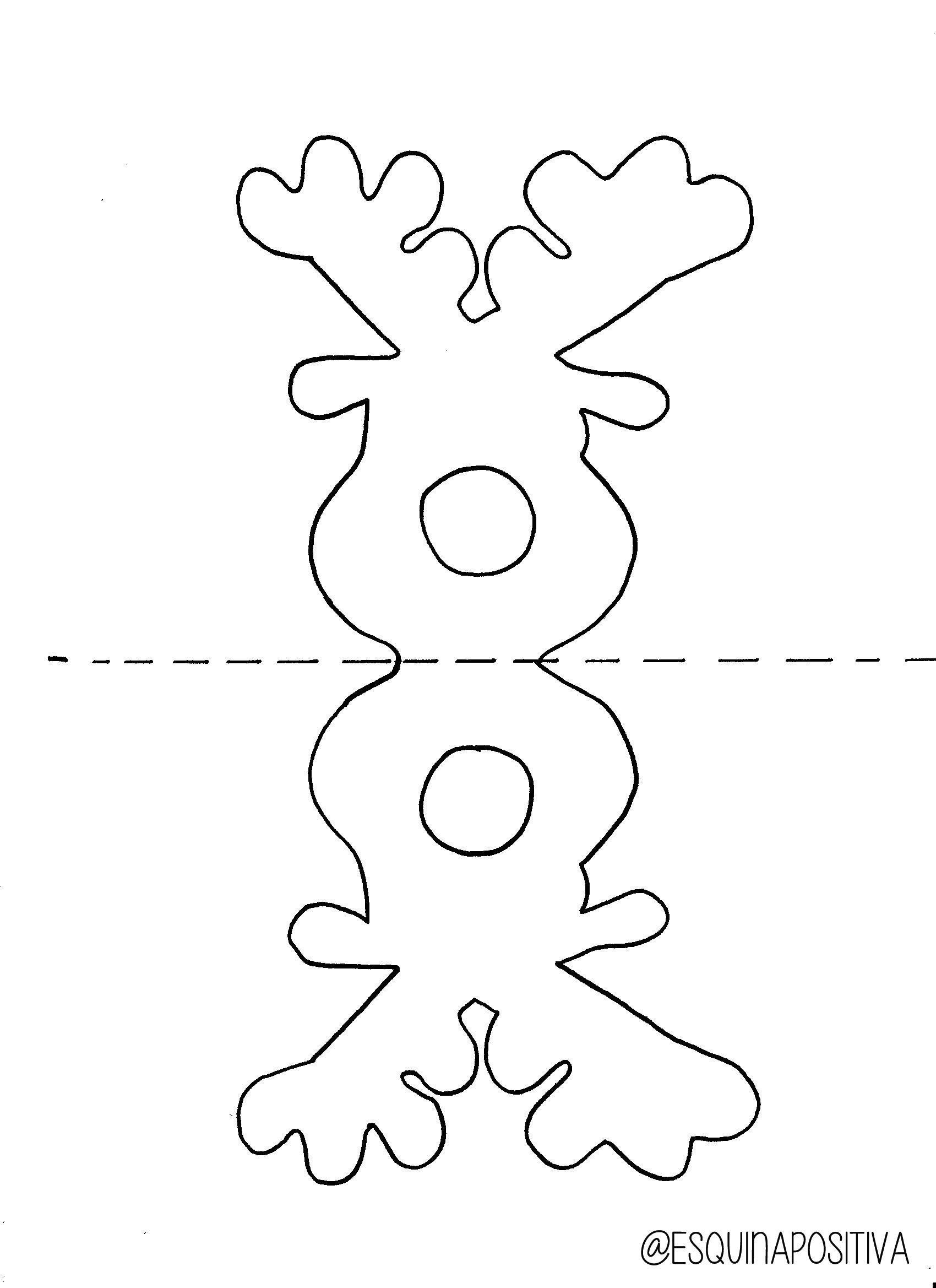 Reindeer Chupa Chups Template