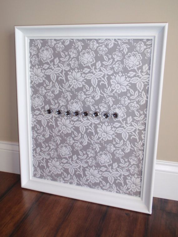 Framed Magnetic Bulletin Board / Photo or Picture Display / Nursery ...