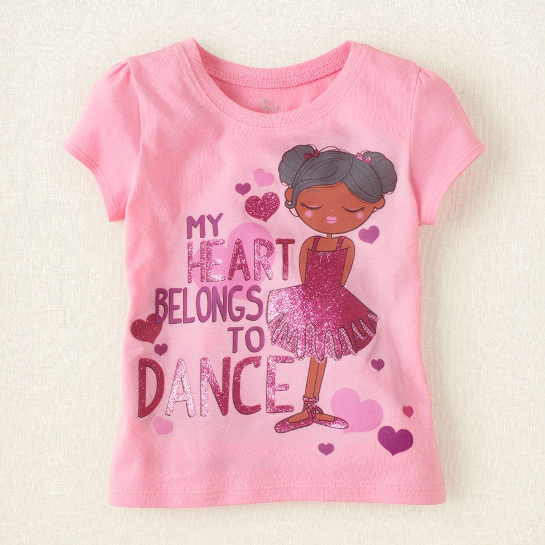 baby girl - graphic tees - dance love graphic tee | Children\'s ...