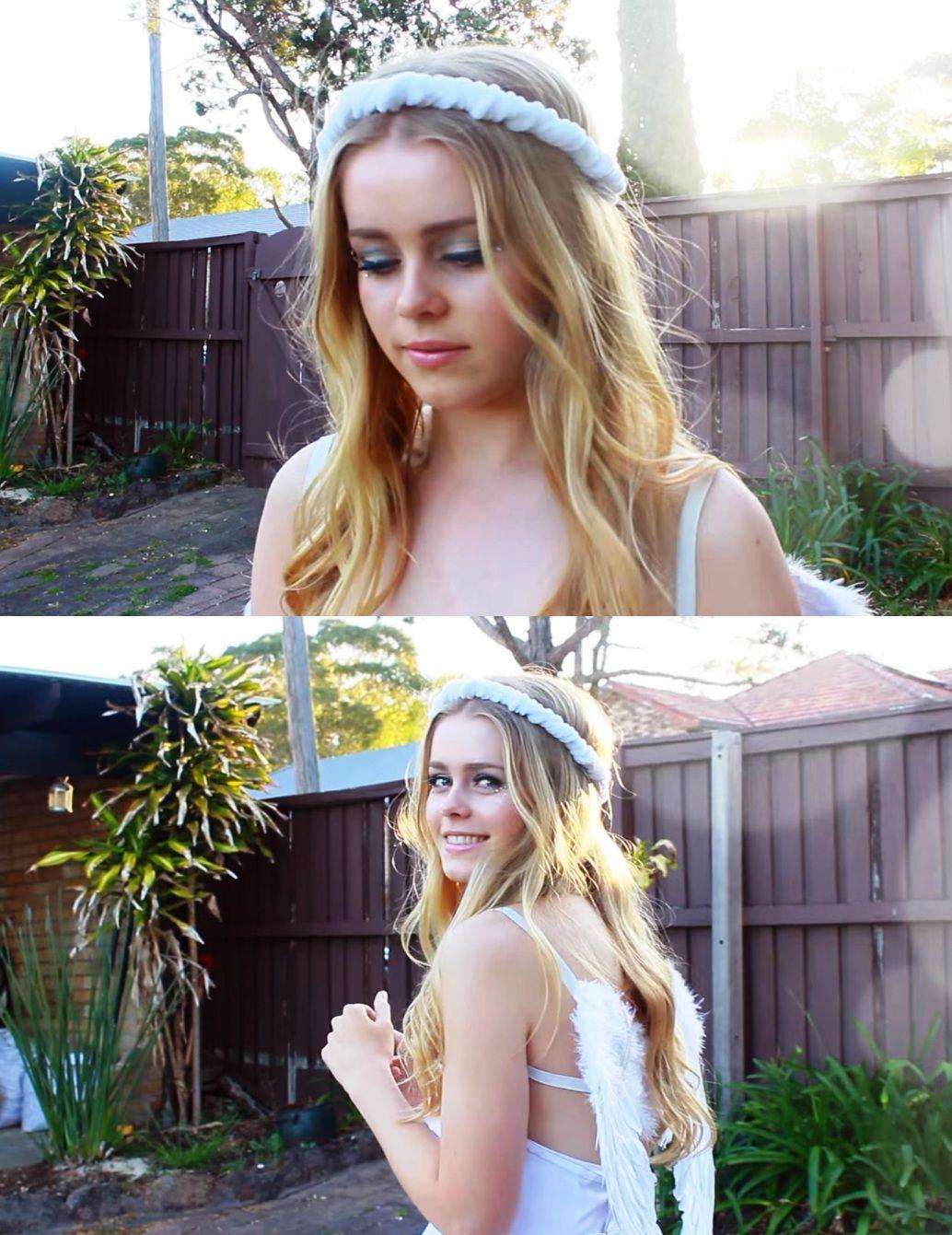 21 simple & pretty look angel halloween makeup ideas | halloween