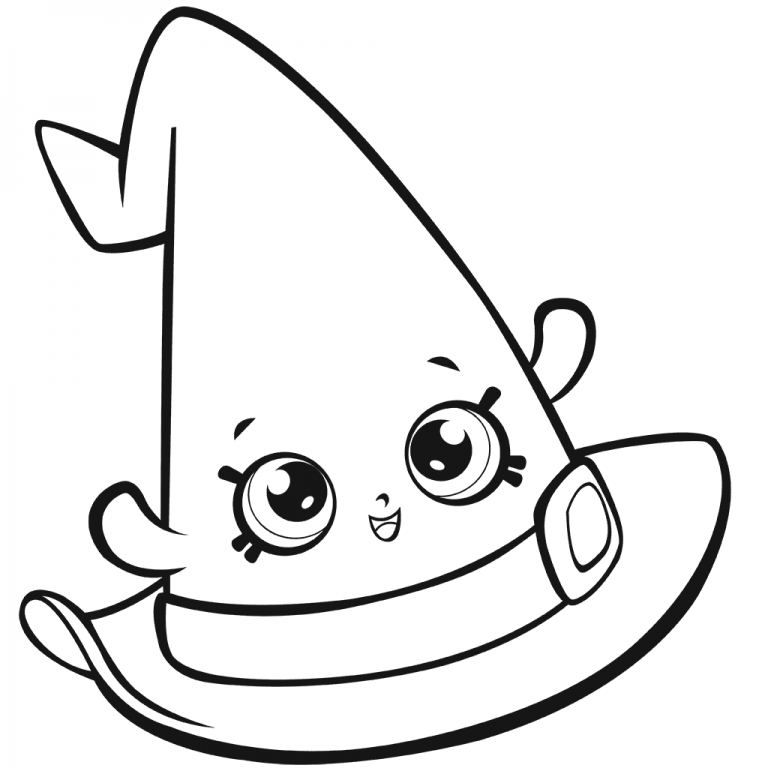 Hat Coloring Pages Shopkins coloring pages free