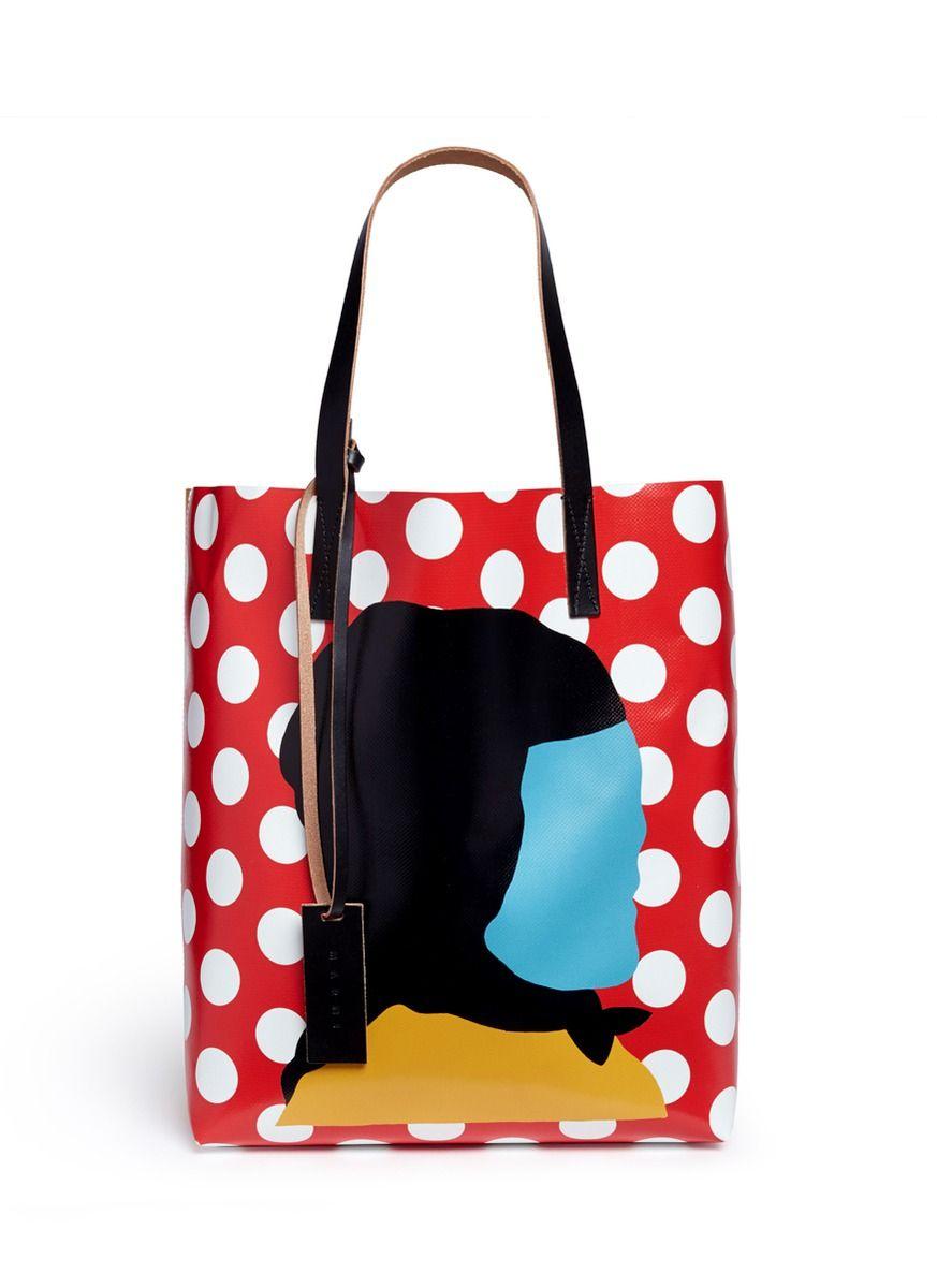 401d7232f6 MARNI Ekta Print Shopping Tote Bag.  marni  bags  shoulder bags  hand bags   pvc  leather  tote