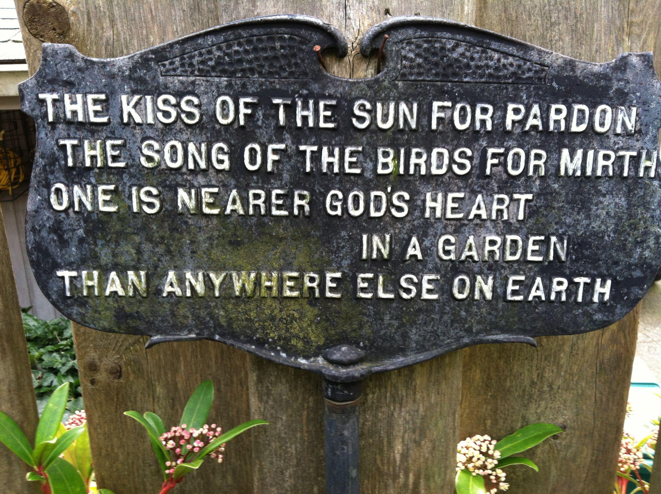 Garden Sign There Was One In My Granny S Garden Garden Signs