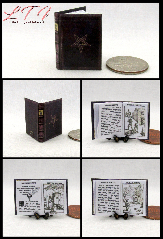 1:12 SCALE MINIATURE BOOK CINDERELLA 1 PRE 1900 DOLLHOUSE SCALE