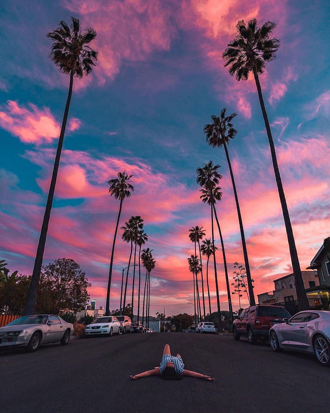 Cotton Candy Sunset California Really Do Host The Most Amazing Sunsets I Ve Seen Image By Ryd Iphone Wallpaper Los Angeles