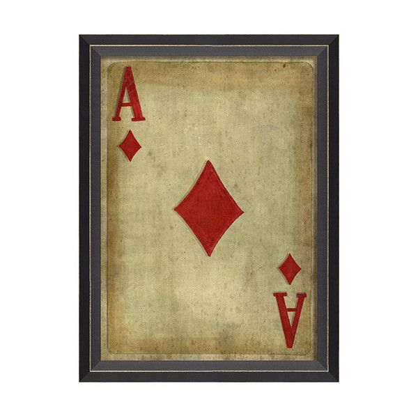 Ace Of Diamonds Framed Art ($137) ❤ liked on Polyvore featuring ...