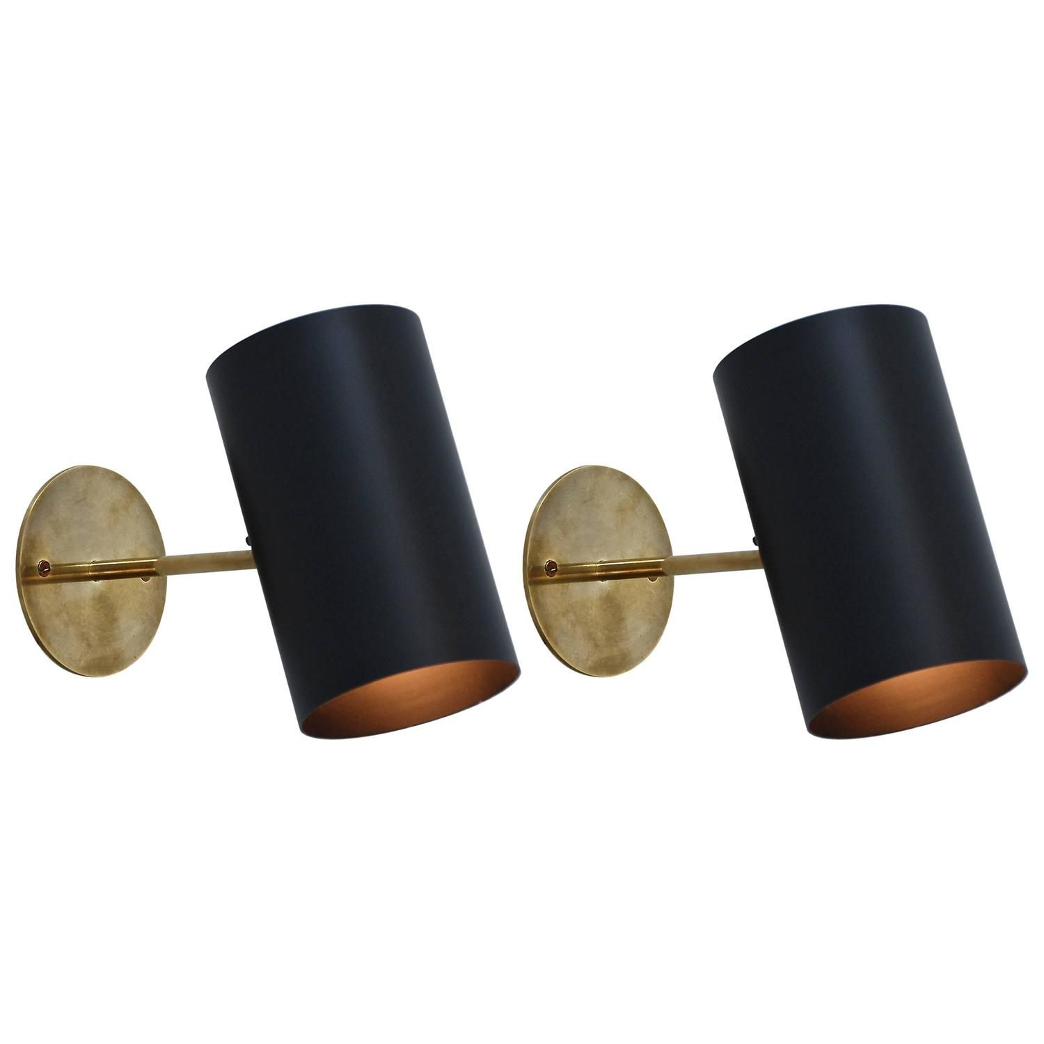 Boris Lacroix Black Cylinder Sconces | From a unique collection of antique and modern wall lights and sconces at ...  sc 1 st  Pinterest & Boris Lacroix Black Cylinder Sconces | Pinterest | Modern wall ...
