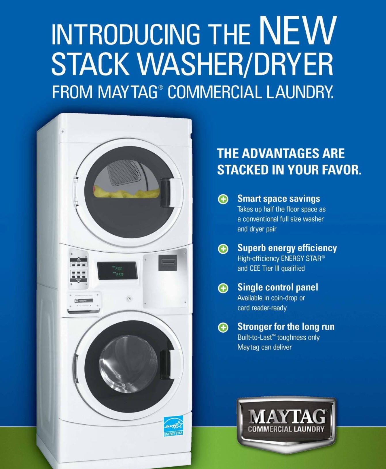 Recommended stackable washer and dryer for smart laundry for Washer dryer closet dimensions