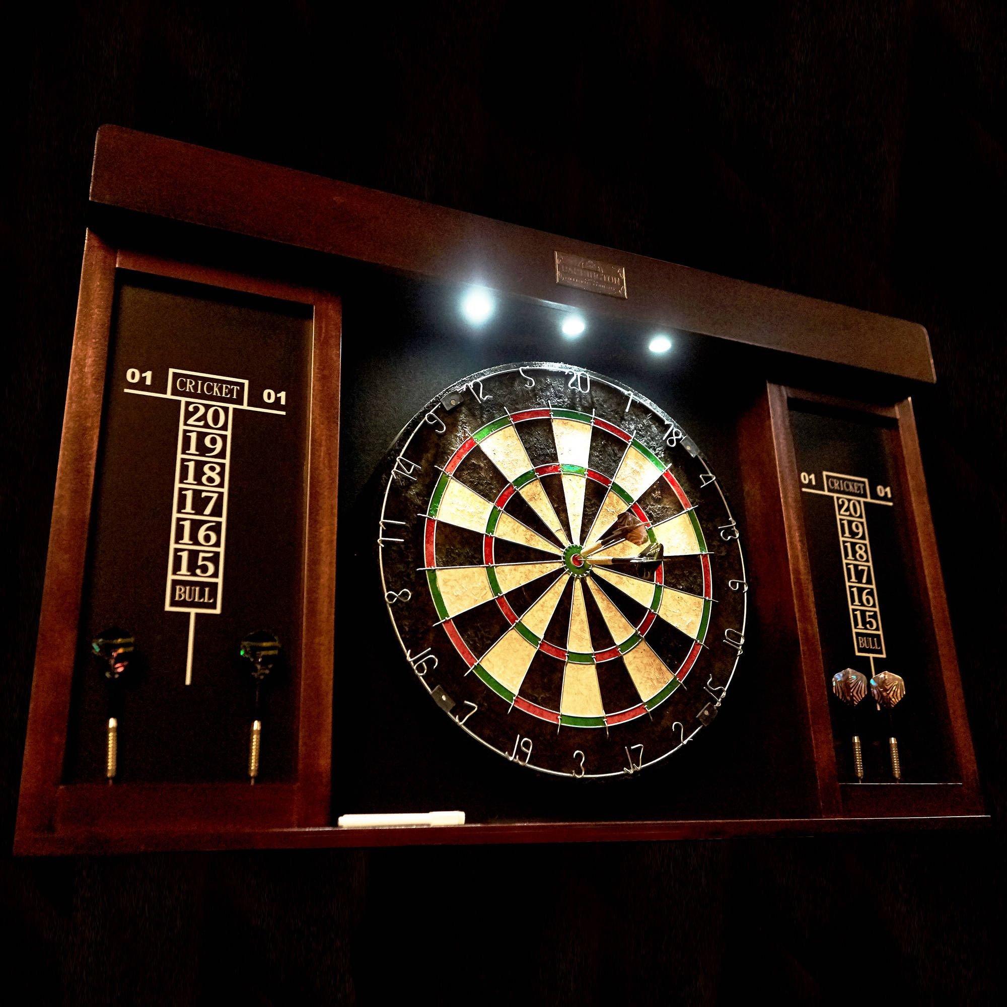 Sports Outdoors Dart Board Cabinet Dart Board Led Lights