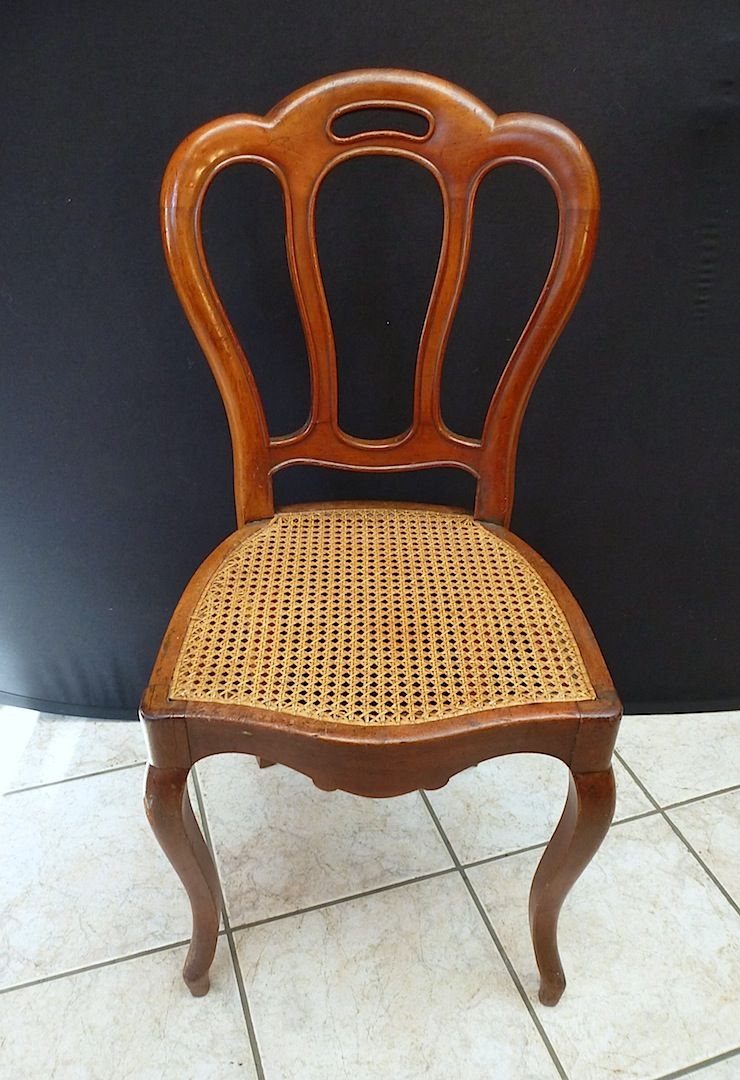 6 chaises cannees louis philippe