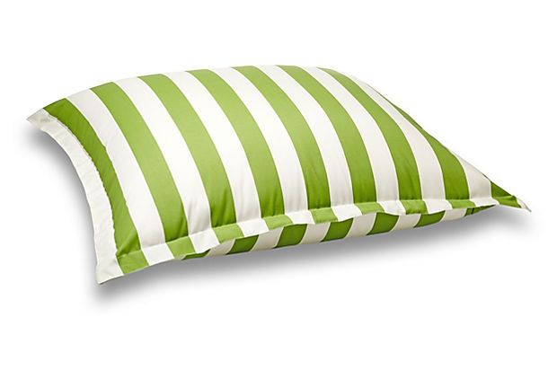 Floor 54x44 Outdoor Pillow, Green on OneKingsLane.com