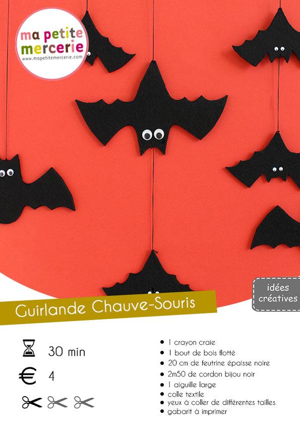 Diy Guirlande Chauve Souris Pour Halloween Mpm Guirlande