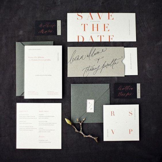 34 schicke moderne hochzeit briefpapier ideen layout design pinterest and. Black Bedroom Furniture Sets. Home Design Ideas