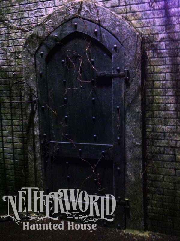 Door to the Unknown at NETHERWORLD Haunted House Inspiration - halloween decorations haunted house