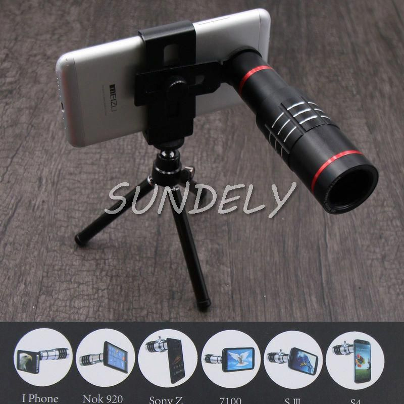 18X Zoom Telescope Camera Telephoto Lens Kit & Tripod For