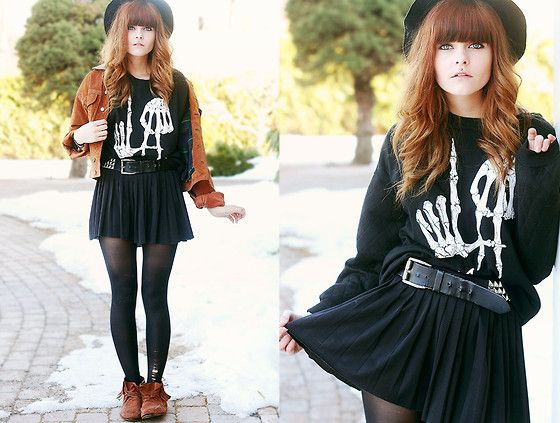 Over my dead body #78 (by Sabina Olson) http://lookbook.nu/look/4762465-Over-my-dead-body-78-Sweatshirt-Suede-Jacket