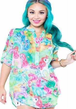 Iron Fist My Little Pony Blouse - Size: S IFLFTP12683SMU The My Little Pony Blouse from Iron Fist is a bright, blast from the past. This totally 90s shirt has an all over pony print, button neckline, 3/4 length sleeves and is floaty and loose fitting! http://www.comparestoreprices.co.uk/blouses/iron-fist-my-little-pony-blouse--size-s-iflftp12683smu.asp