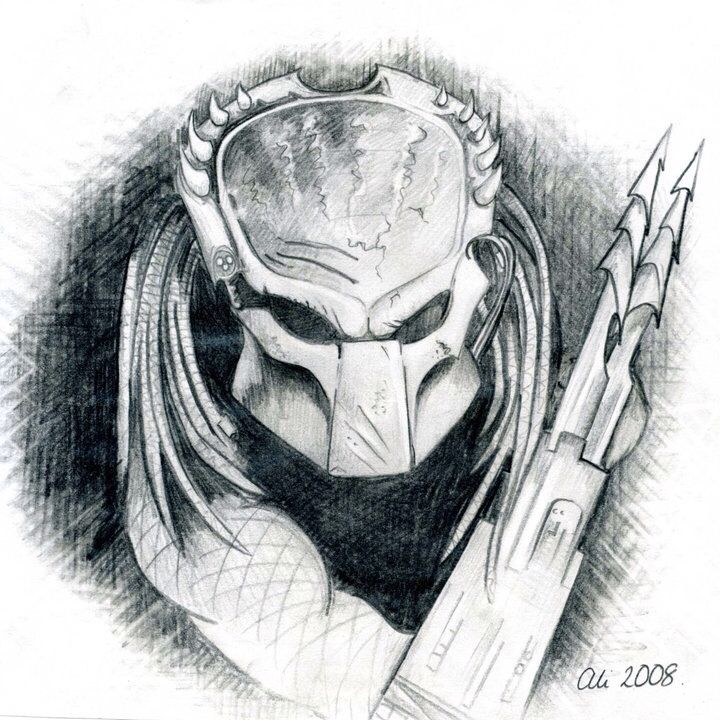 My Predator pencil sketch | ey | Pinterest | Criatura y Dibujo