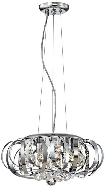 possini euro design steel ribbons crystal pendant chandelier 300