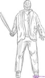 Coloring Pages Jason Voorhees Allcolored malebog sfo Pinterest