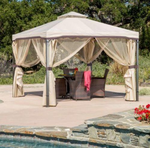 Gazebo For Patio Pergola Portable Outside Canopy Tent Backyard Cabana Screened Christopherknighthome