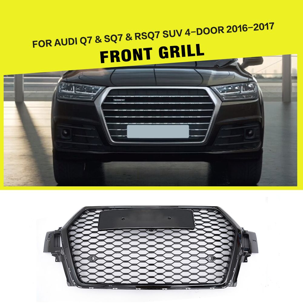 RSQ7 Car-Styling ABS Auto Mesh Racing Front Grill Grille
