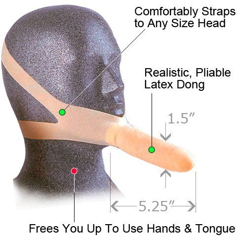 Strapon chin dildo — photo 6