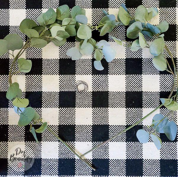 Photo of How to make an inexpensive eucalyptus heart shaped wreath
