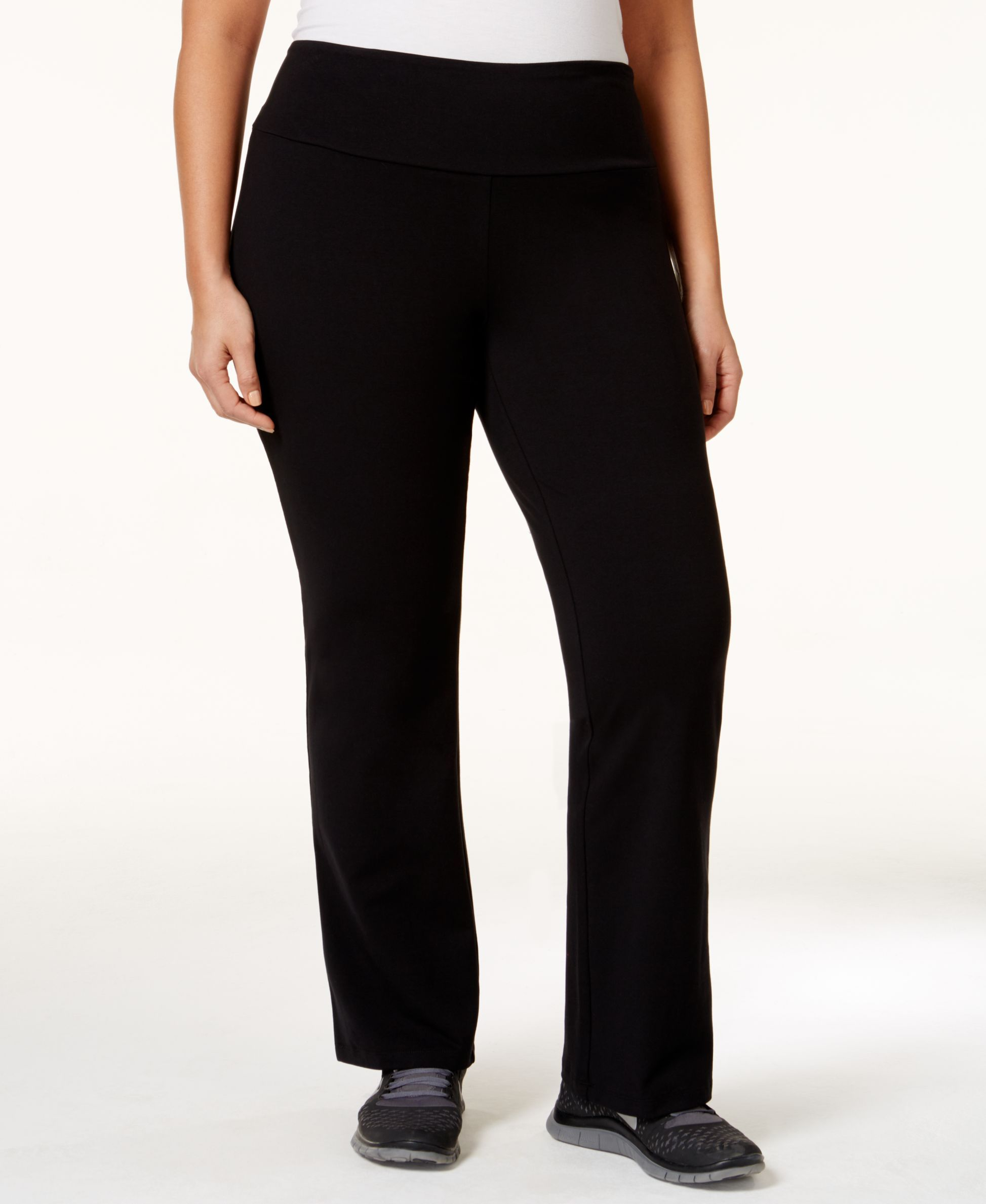 Style & Co. Plus Size Tummy-Control Stretch Pants, Only at Macy's