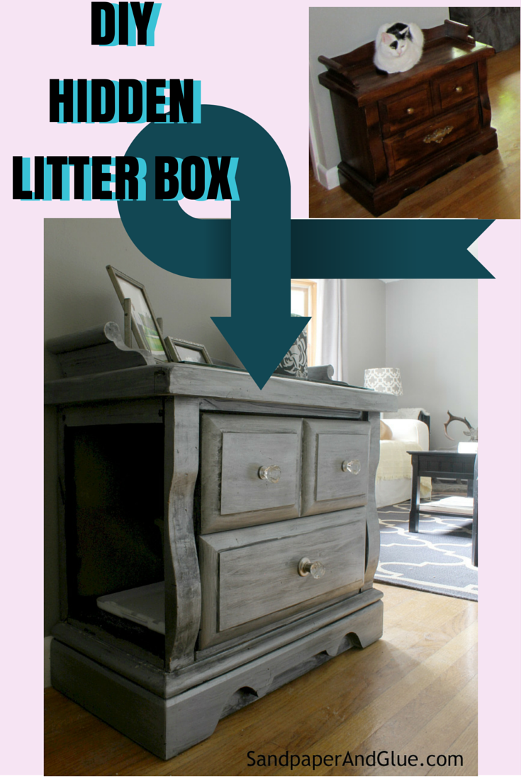 Diy Hidden Litter Box From Sandpaperandglue Com Diy Ideas Litter