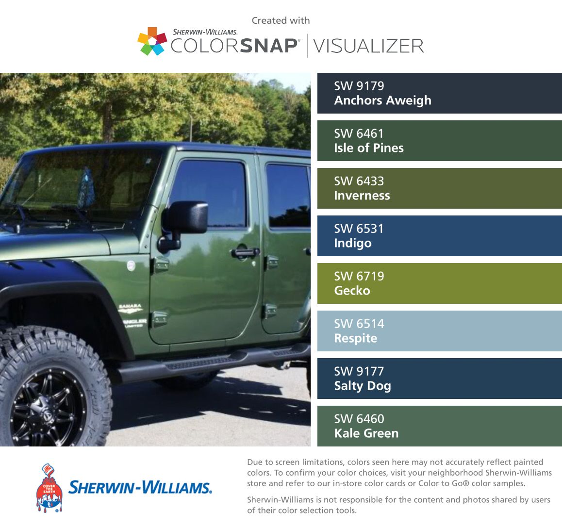 Love jeep green sherwin williams anchors aweigh sw 9179 isle love jeep green sherwin williams anchors aweigh sw 9179 isle of nvjuhfo Images