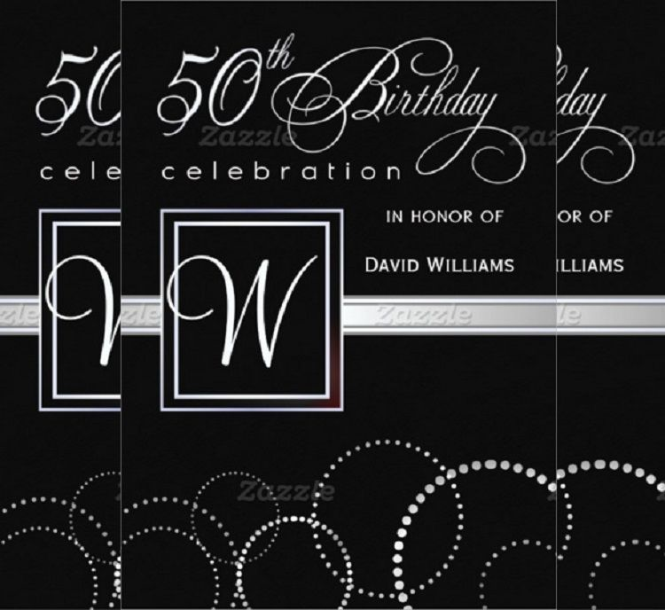 50th Birthday Invitations Templates Invitation Cards