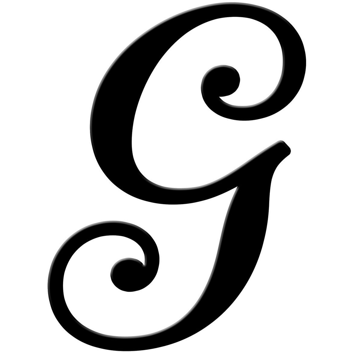 Outdoor Letters: Fancy Script Letter E, Fancy Letter K ...