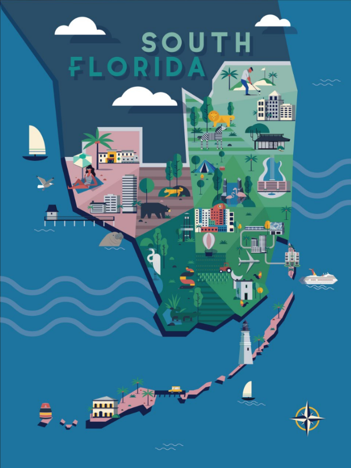 miami map projects | photos, videos, logos, illustrations