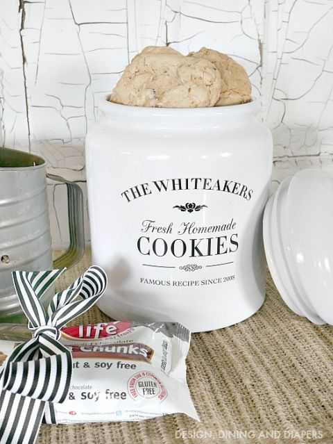 gift idea personalized cookie jar pinterest personalized
