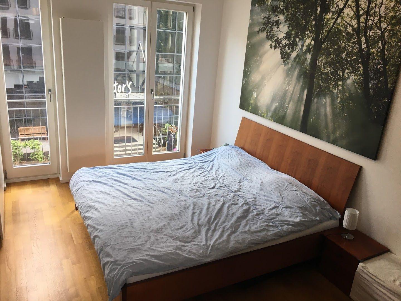 Dieses Schlafzimmer Ist Zwar Eher Schlicht Eingerichtet Dafur Hat Es Aber Einen Ganz Besonderen Hingucker Das Wunderschon Wg Zimmer Zimmer Wohnen