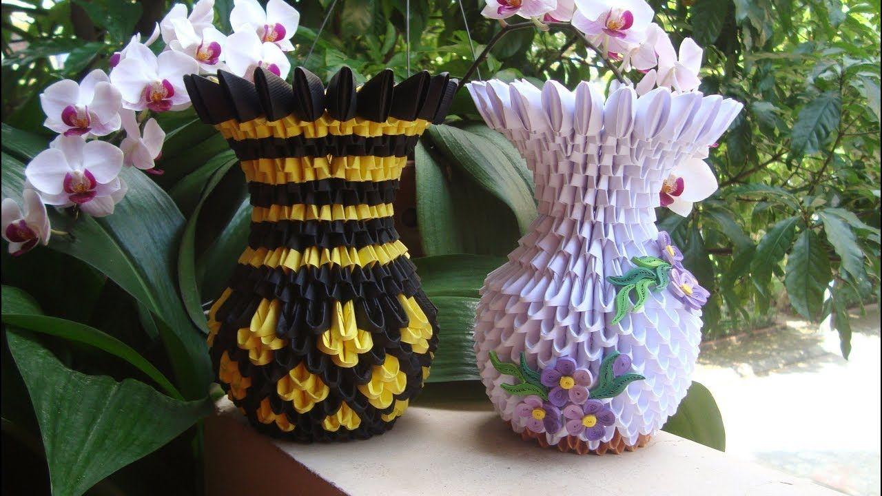 How to make 3d origami flower vase v9 diy paper flower vase home how to make 3d origami flower vase v9 diy paper flower vase home decor mightylinksfo