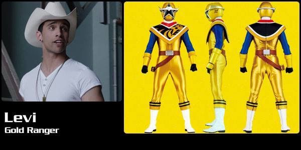 Levi Gold Ninja Steel Ranger Power Rangers Ninja Steel