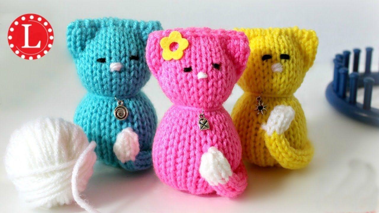LOOM KNIT Cat Kitty Doll (Round Loom)   Tejer a Telar   Tricotin ...