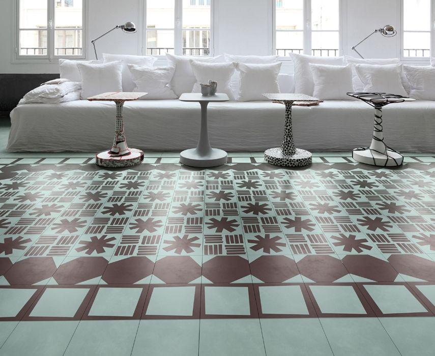 Bisazza Tape, design Paola Navone, piastrelle realizzate - bodenbelag f r k che