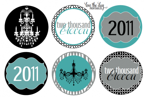 free tiffany's printables   New Year's Eve Party Ideas & Free Printable Labels   Living Locurto ...