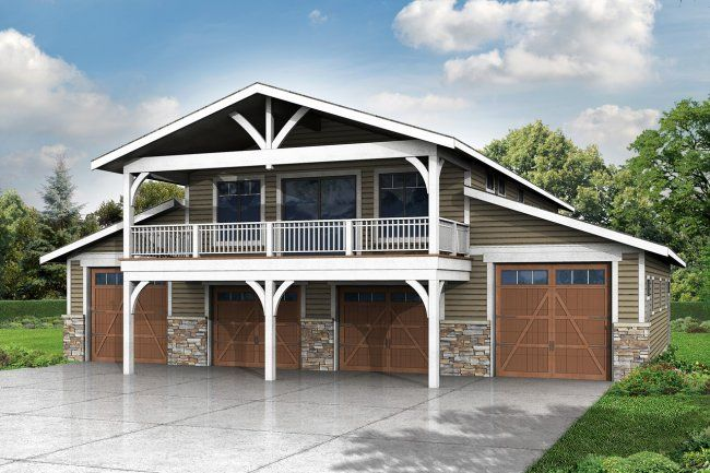 New 2 Story Garage Plan With Recreation Room