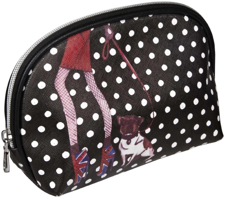 Izak Small Dome Girl Walking Dog Cosmetic Bag Girls bags