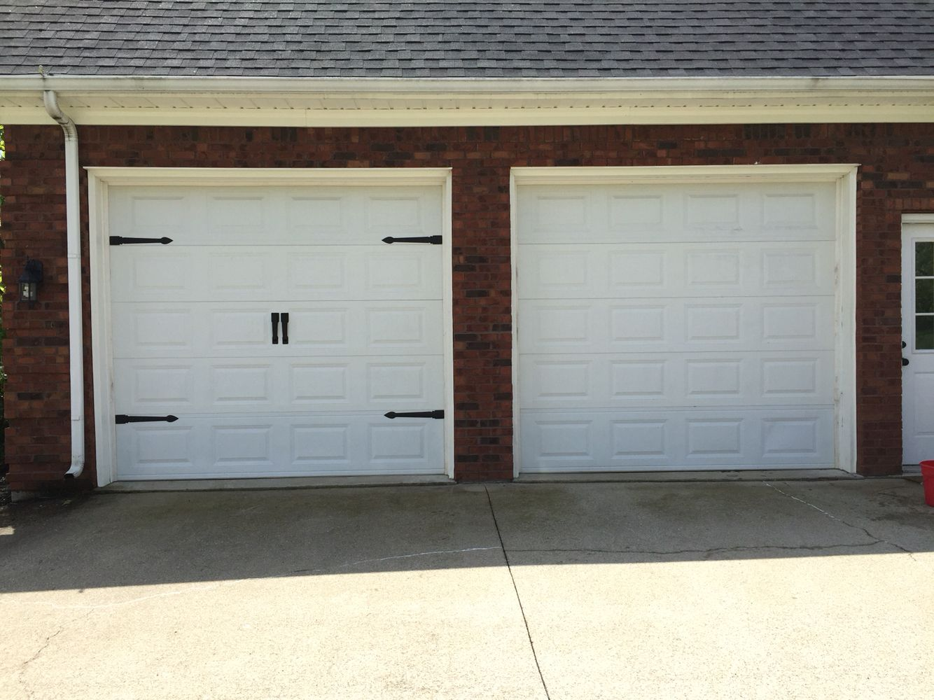 Before And After Carriage Garage Door Hardware Only 34 98 Per