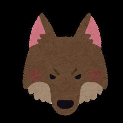 オオカミの顔のイラスト オオカミ イラスト オオカミ イラスト