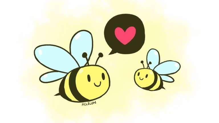 Bee Holding A Heart Royalty Free Vector Image Vectorstock Cartoon Bee Bee Pictures Cute Bee