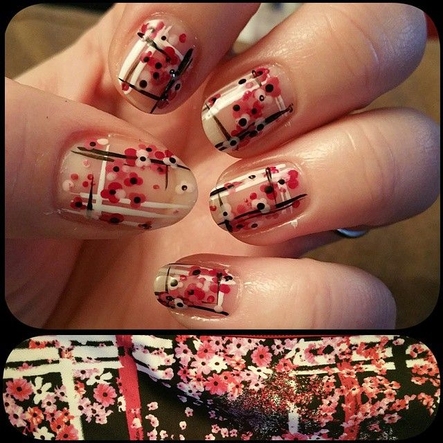 Nail art to match my dress. Yes please.