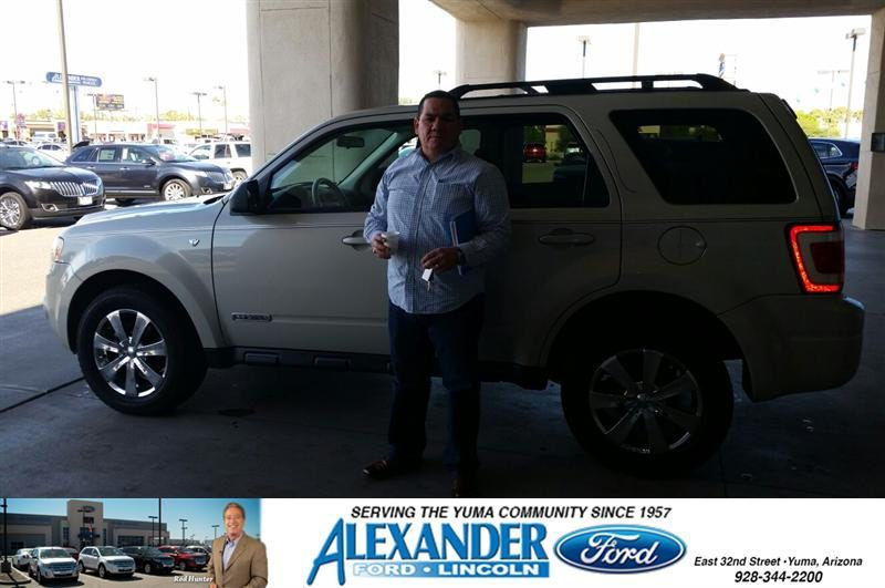 Congratulations To Gerardo Torres On Your Ford Escape Purchase