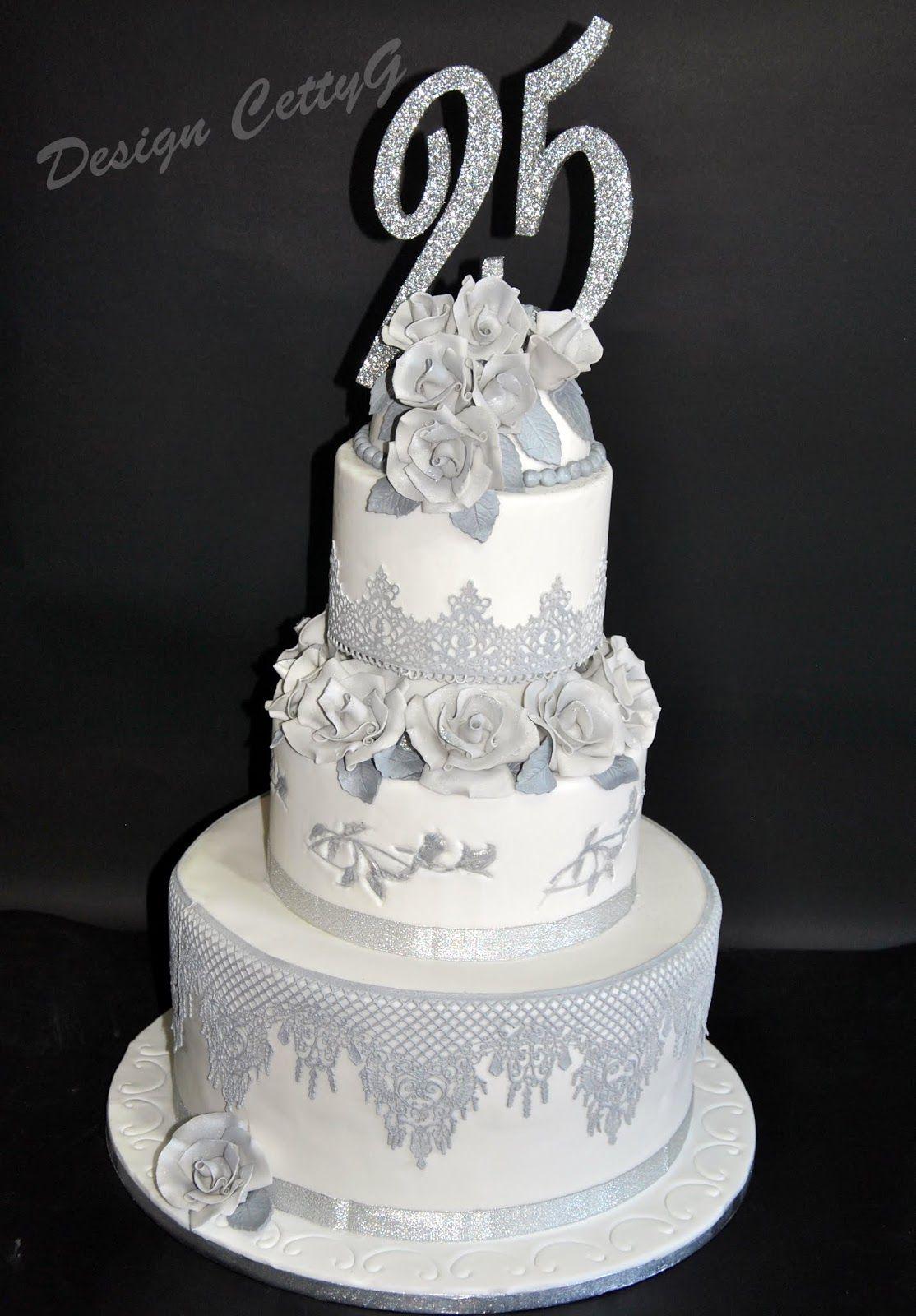 Favori Le torte decorate di CettyG: Wedding cake 25° in pdz. | cake  OM16