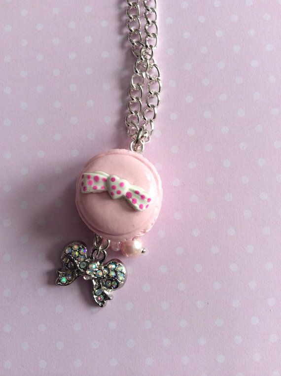 Lovely Kawaii Macaroon Pendant Kawaii Polymer Clay by ExactNature, $13.00